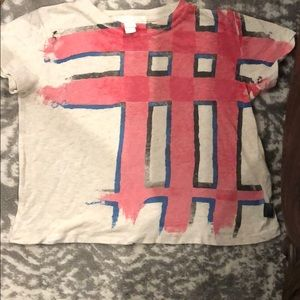 Toddler Burberry check T-shirt